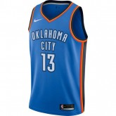 Maillot Paul George OKC Thunder Icon Edition Swingman Bleu Pas Cher Nice