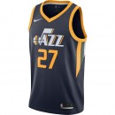 Boutique Maillot Rudy Gobert Utah Jazz Icon Edition Swingman Bleu En Ligne
