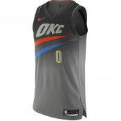 Maillot Russell Westbrook City Edition Oklahoma City Thunder Authentic Noir Magasin De Sortie