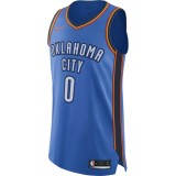 France Maillot Russell Westbrook Oklahoma City Thunder Icon Edition Authentic Bleu