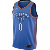 Maillot Russell Westbrook Oklahoma City Thunder Icon Edition Swingman Bleu Achat à Prix Bas