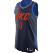 Prix Maillot Russell Westbrook Oklahoma City Thunder Statement Edition Authentic Bleu