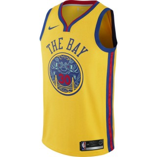Maillot Stephen Curry City Edition Swingman Golden State Warriors Jaune vente privée