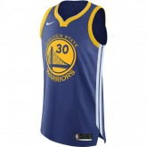 Maillot Stephen Curry Golden State Warriors Icon Edition Authentic Bleu France Pas Cher