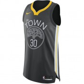 Prix Maillot Stephen Curry Golden State Warriors Statement Edition Authentic Noir