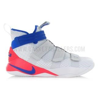 Solde Nike Lebron Soldier Xi Sfg Ultramarine Blanc