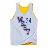 Solde Shaquille ONeal 2004 West Reversible Tank NBA All-Star Mitchell&Ness Blanc
