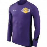 Shooting Los Angeles Lakers Hyper Elite manches longues Violet à Petits Prix