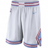Soldes Short Chicago Bulls City Edition Swingman Blanc
