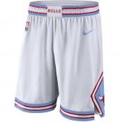 Soldes Short Chicago Bulls City Edition Swingman Blanc