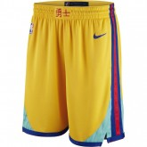 Achat Short City Edition Golden State Warriors Swingman Jaune
