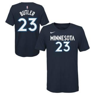 T-Shirt NBA Enfant Jimmy Butler Minnesota Timberwolves Bleu Réduction