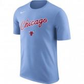 T-shirt Chicago Bulls City Edition Dry valor Bleu nouveau modele