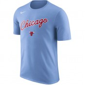T-shirt Chicago Bulls City Edition Dry valor Bleu nouveau modele