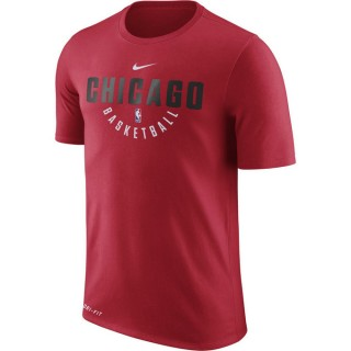 Vente Privée T-shirt Chicago Bulls Dry Rouge