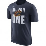 Promotion T-shirt Cleveland Cavaliers All For One Dry Bleu