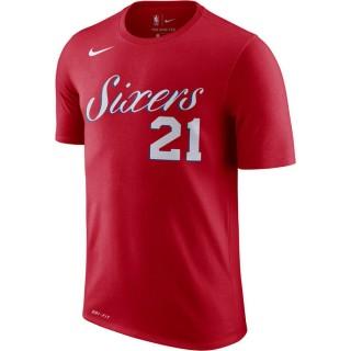 T-shirt Joel Embiid Philadelphia 76ers Dry Rouge Boutique Paris