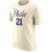 T-shirt Joel Embiid Philadelphia 76ers natural Beige / Brun Rabais Paris