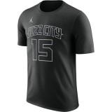Reduction T-shirt Kemba Walker Charlotte Hornets City Edition Dry Noir