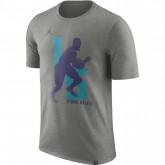 T-shirt Kemba Walker Charlotte Hornets Jordan Dry dk Gris Acheter