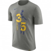 Solde T-shirt Kevin Durant Golden State Warriors Dry Gris promo