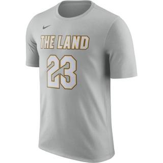T-shirt LeBron James Cleveland Cavaliers City Edition Dry flt silver Gris Promos Code