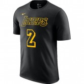 Nouvelle Collection T-shirt Lonzo Ball City Edition LA Lakers Noir