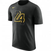 Solde T-shirt Los Angeles Lakers City Edition Dry Noir