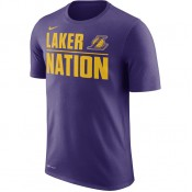 T-shirt Los Angeles Lakers Dry court Violet en promo
