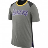 T-shirt Los Angeles Lakers dk Gris Pas Cher Marseille