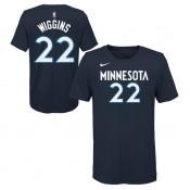 T-shirt NBA Andrew Wiggins Minnesota Timberwolves Bleu Boutique France