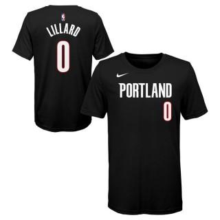 T-shirt NBA Enfant Damian Lillard Portland Trailblazers Noir la Vente à Bas Prix