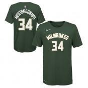 T-shirt NBA Enfant Giannis Antetokounmpo Icon Milwaukee Bucks Vert Soldes France