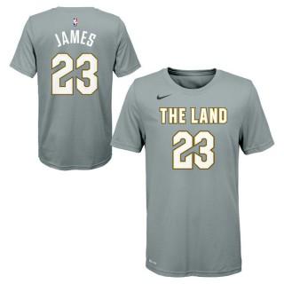 Achat Nouveau T-shirt NBA Enfant LeBron James City Edition Cleveland Cavaliers Gris