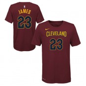Officielle T-shirt NBA Enfant LeBron James Cleveland Cavaliers Icon Rouge