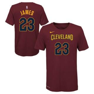 Officielle T-shirt NBA Enfant LeBron James Cleveland Cavaliers Icon Rouge