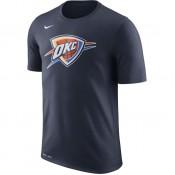 T-shirt Oklahoma City Thunder Dry Logo Bleu Vendre Cannes