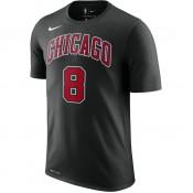 T-shirt Zach Lavine Chicago Bulls Dry Noir Escompte En Lgine