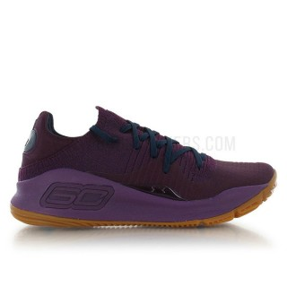 Nouvelle Collection Under Armour Curry 4 Low Merlot Rouge