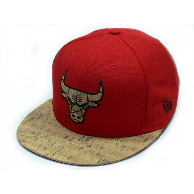 Casquette Chicago Bulls Cork New Era Fitted Rouge