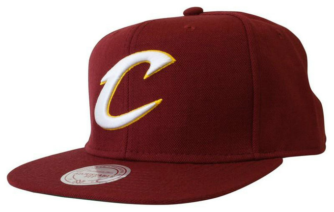 Casquette Cleveland Cavaliers Wool Solid Snapback Mitchell&Ness Rouge