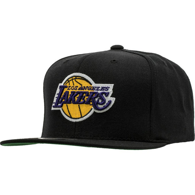 Casquette La Lakers Mitchell&Ness Wool Solid 2 Snapback Noir