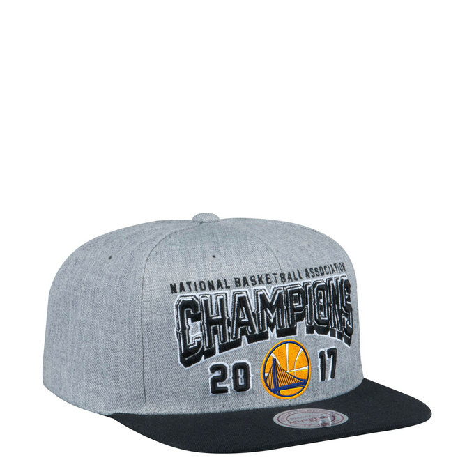 Casquette NBA Warriors 2017 Final Champs Classic Snapback Mitchell&Ness Gris