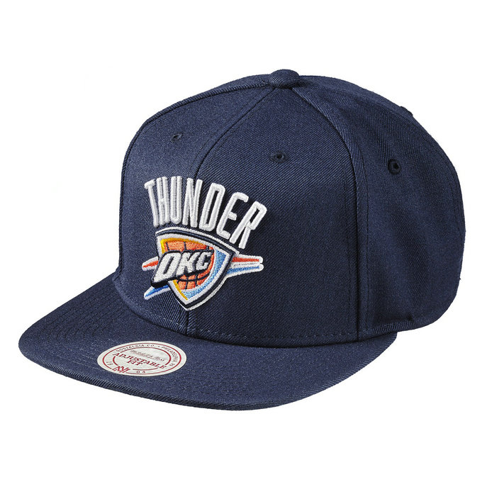 Casquette OKC Thunder Wool Solid Snapback Mitchell&Ness Bleu