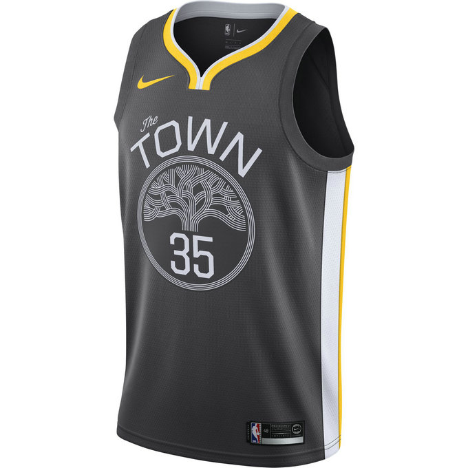 Maillot Kevin Durant Golden State Warriors Statement Edition Swingman Noir