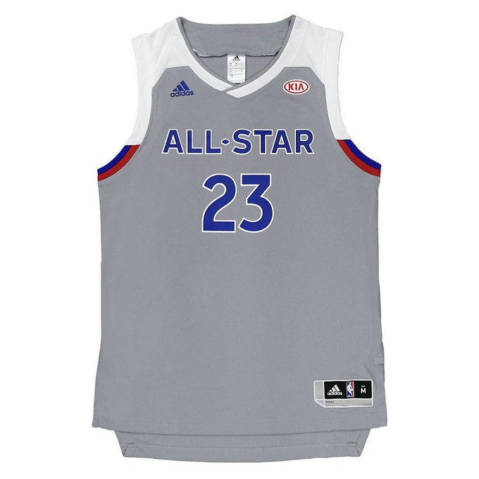 Maillot LeBron James All Star 2017 Replica adidas Gris