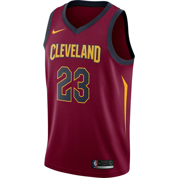 Maillot Lebron James Cleveland Cavaliers Icon Edition Swingman Rouge