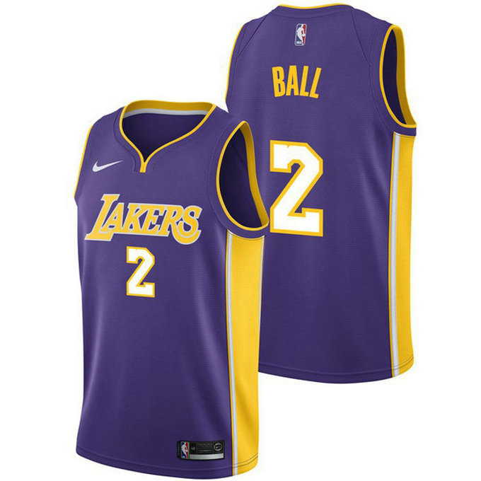 Maillot Lonzo Ball Los Angeles Lakers Statement Edition Swingman Violet