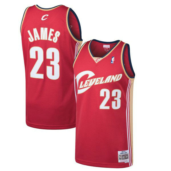 Maillot Mitchell & Ness Enfant LeBron James Cleveland Cavaliers 2003-2004 Rouge