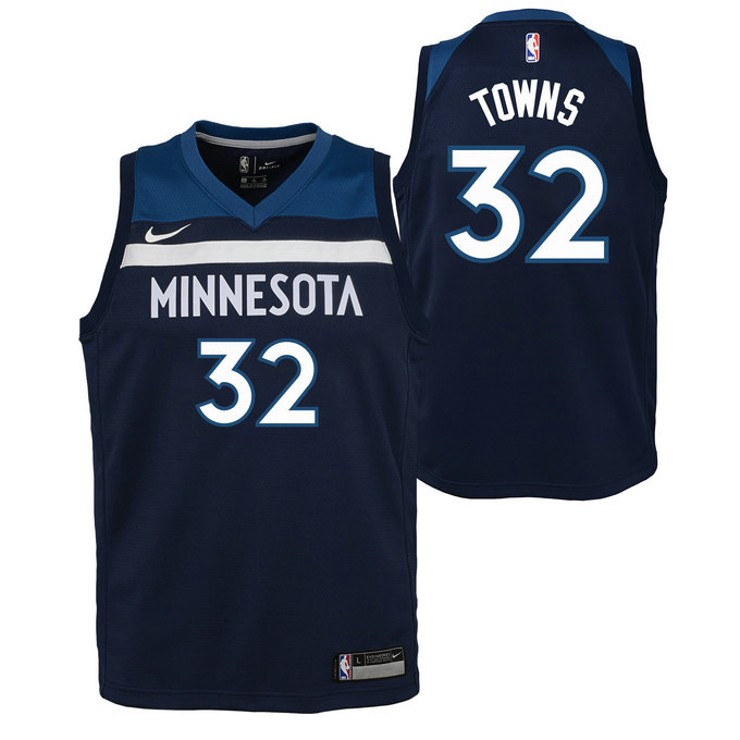 Maillot NBA Enfant Karl-Anthony Towns Minnesota Timberwolves Swingman Icon Bleu